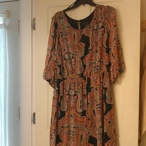 Enfocus Women's Paisley Design Dress